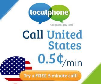 бесплатные звонки, День благодарения, Localphone