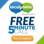 Cheap International Calls, Localphone